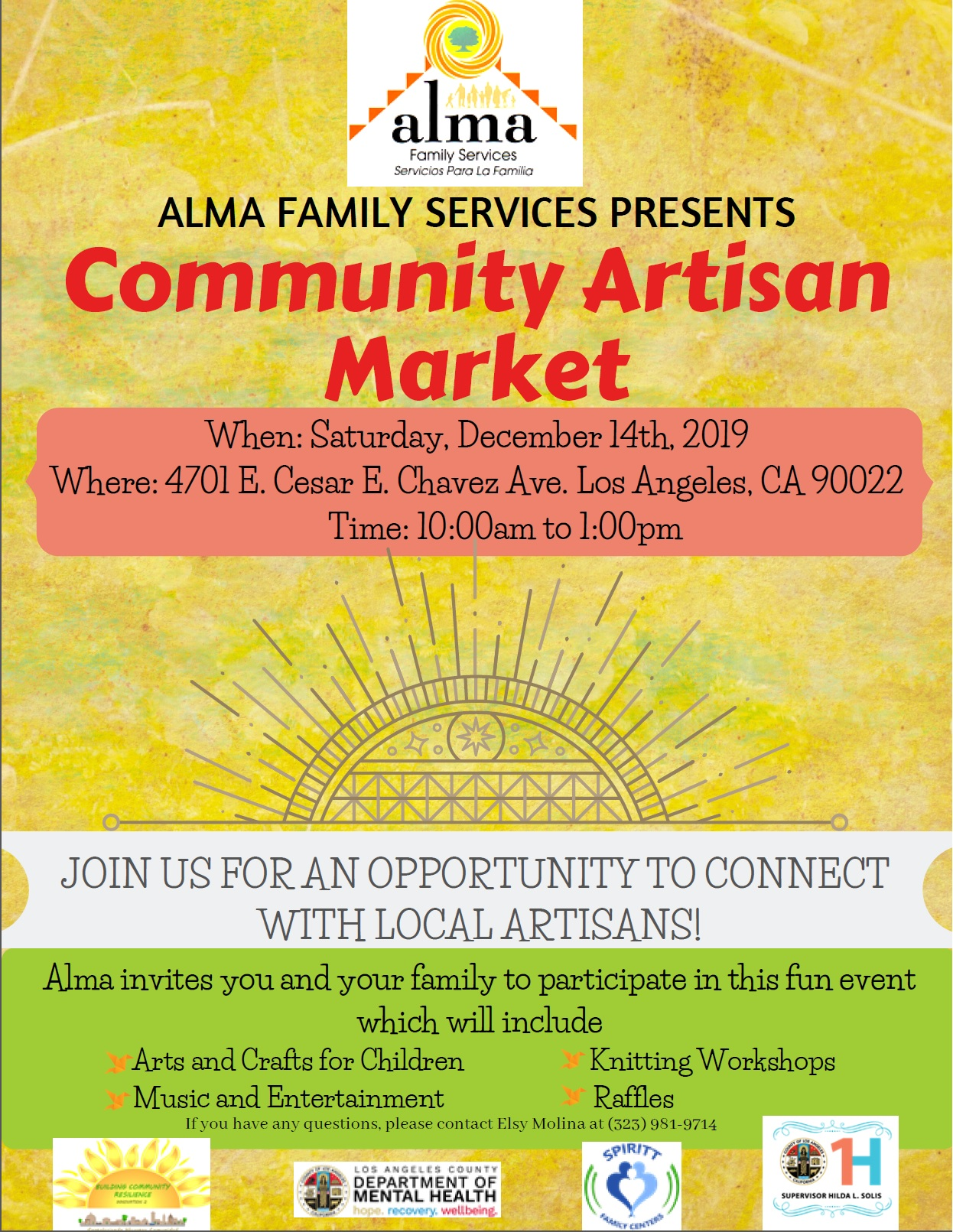Community Artisan Market English Flyer